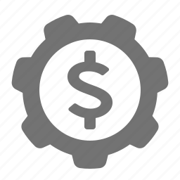 cog, dollar, economy, gear, money, system icon