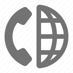company, contact, global, globe, international, phone icon