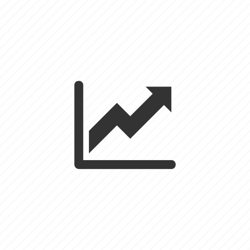 arrow, business, chart, graph, increase, rise, success icon