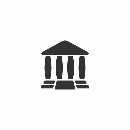 building, columns, court, crime, exterior, judge, justice, law, lawyer, order, steps, temple icon