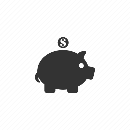 animal, bank, coin, dollar, dollar sign, finance, investment, money, pig, piggybank, rich, wealth, wealthy icon