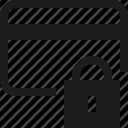 credit, lock, secure icon