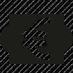 euro, sign icon