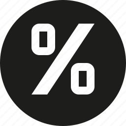 percentage, sign icon