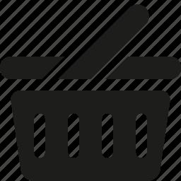 basket, empty, shopping icon