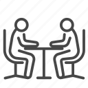 business, businessman, meeting, meeting room icon