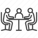 business, businessmen, meeting, meeting room icon