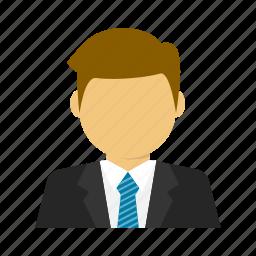 avatar, business, businessman, corporate, handsome, suit, tie icon