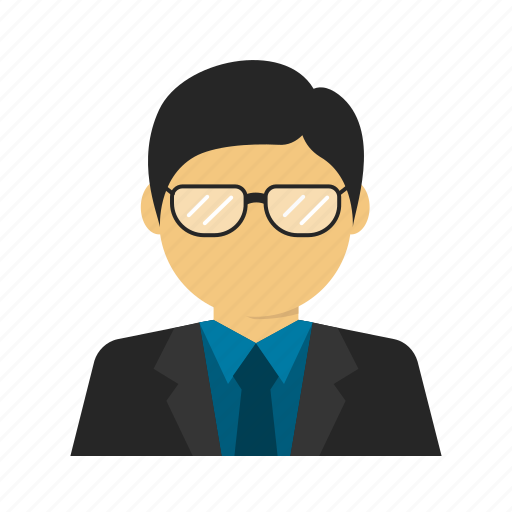 avatar, boss, business, businessman, glasses, smart, suit icon