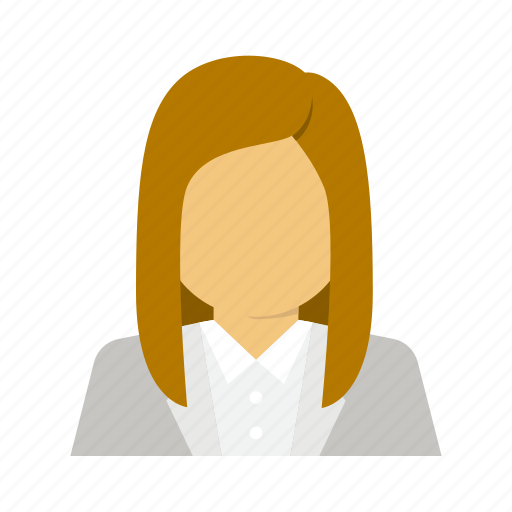 avatar, business, corporate, secretary, woman icon