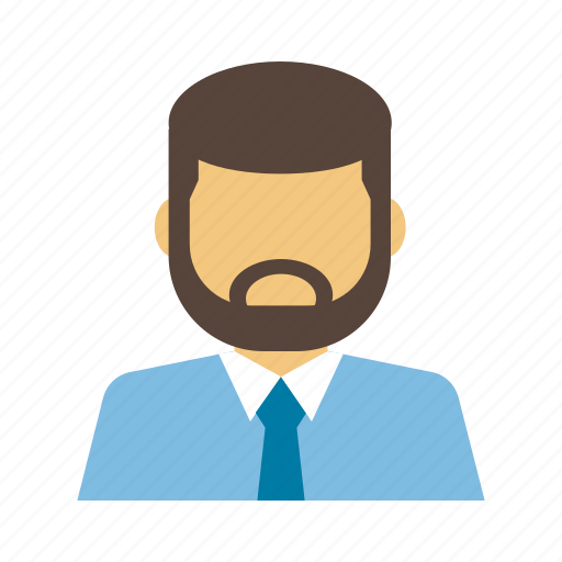 avatar, beard, business, businessman, corporate, employees, person icon