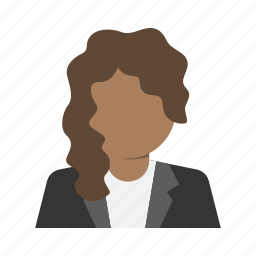 avatar, business, character, corporate, person, suit, woman icon