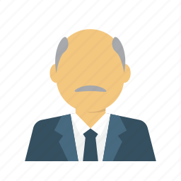 avatar, business, businessman, ceo., old, senior, woman icon