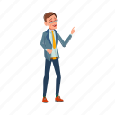 man, businessman, laughing, from, funny, joke, people