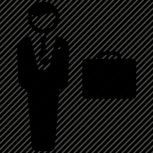 Briefcase, businessman, employee, employer, entrepreneur icon