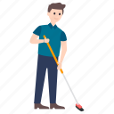cleaner, cleaning person, custodian, janitor, sweeper icon