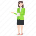 business lady, businessperson, businesswoman, employer, entrepreneur, office employee icon