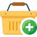 add, basket, buy, plus, shop, shopping icon