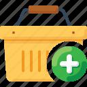 add, basket, buy, plus, shop, shopping