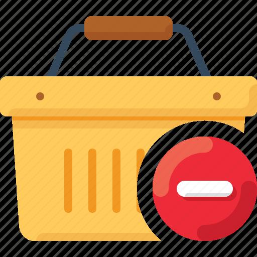 basket, delete, minus, shop, shopping icon