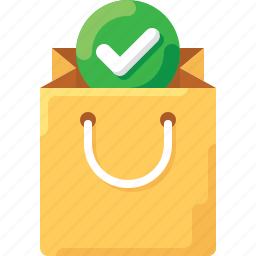 bag, buy, check, complete, shop, shopping, tote icon