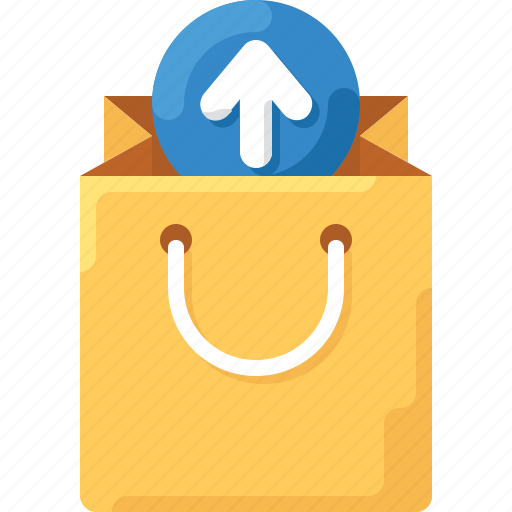 arrow, bag, shop, shopping, tote, up, upload icon