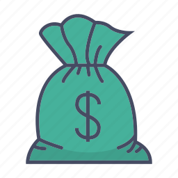 dollar, finance, money, sack icon