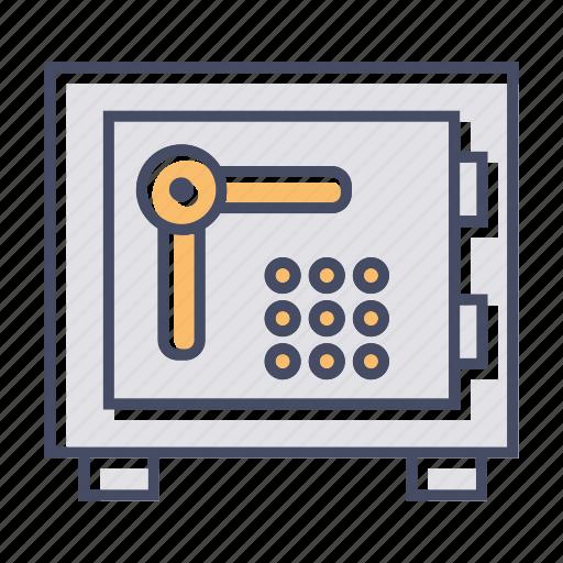 bank locker, bank safe, locker, money box icon