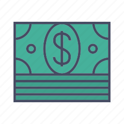 bundle of dollar, bundle of money, dollars, money icon