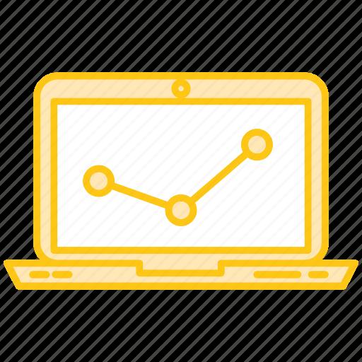 bussines, computer, diagram, finance, graph, marketing icon