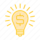 bulb, bussines, finance, idea, lamp, marketing, seo icon