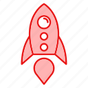 bussines, finance, marketing, rocket, seo icon