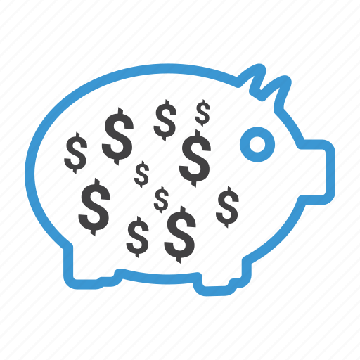 dollar, finance, money, payment, pig, piggy, save icon