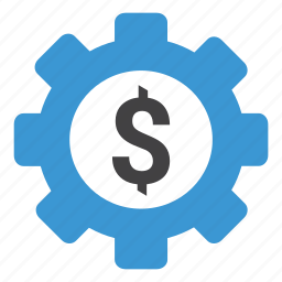 dollar, gear, money, options, preferences, set money, settings icon