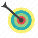 archery, arrow, bullseye, center, goal, shoot, target icon