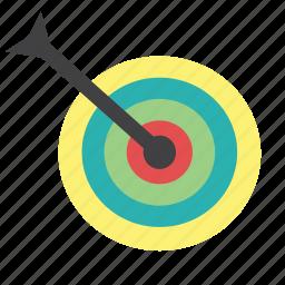 archery, arrow, bullseye, center, goal, shoot, target icon