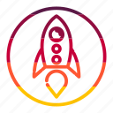 missile, power, rocket, startup icon