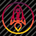 rocket, startup, power, missile