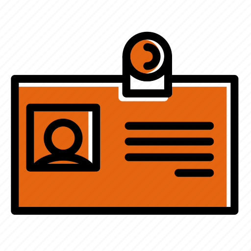 business, card, id, nametag, office, photo employes icon
