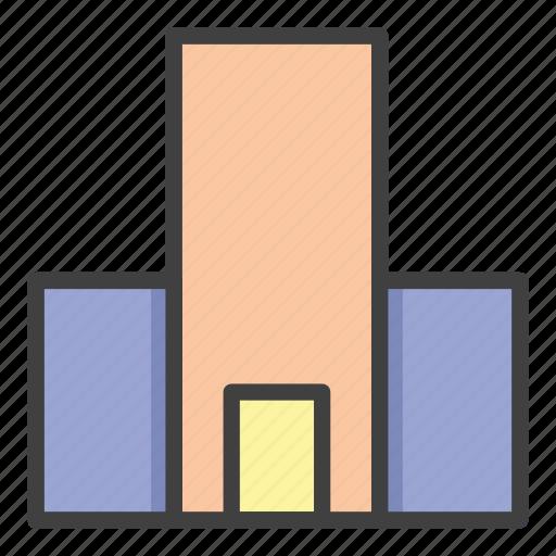 architecture, building, city, construction, estate, hotel, office icon