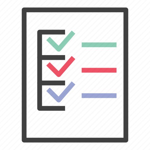 business, checklist, document, finance, form, report, to do icon