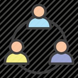analytics, brainstorming, business, economy, finance, meeting, multi level marketing icon