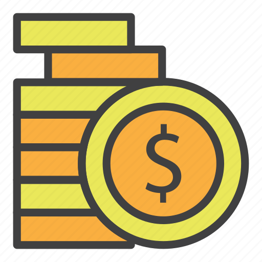 banking, business, coins, economy, finance, money, payment icon