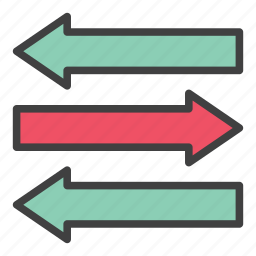 arrow, business, cash flow, direction, economy, finance, flow icon