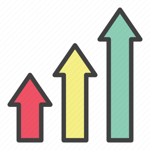 business, economy, exponential, finance, graph, grow, office icon