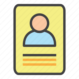 banking, business, crew, finance, id card, member, office icon