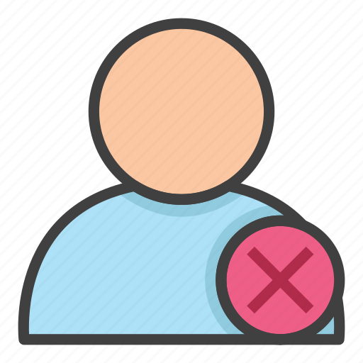 banking, business, economy, employee, fired, office, rejected person icon