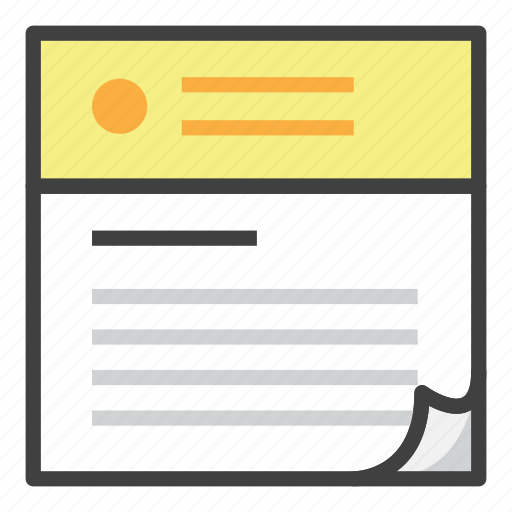 document, file, finance, news, newspaper, office, read icon