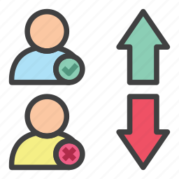 analytics, business, employee, fired, hired, office, statistic icon