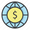 bank, banking, business, economy, finance, money, world icon
